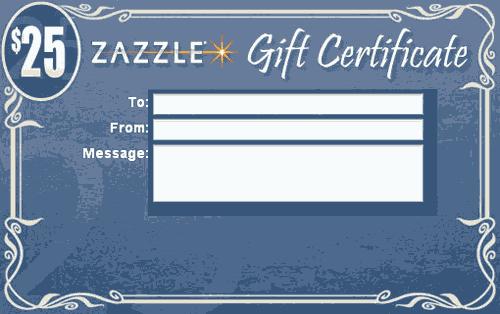 Zazzle.com Gift Certificates