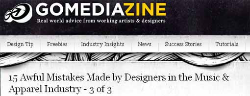 GoMediaZine - 15 Awful Mistakes made by Designers