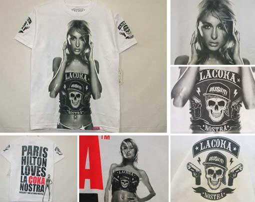 Paris Hilton Love La Coka Nostra Tee Shirts