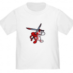 Bloody Ninja Monkey T-Shirt at Cafepress