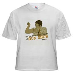 Dwight Schrute gun show T-Shirt