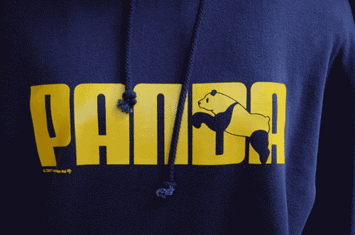 This design, a spoof of Puma's logo was available on many many items. This photo is a hoodie.