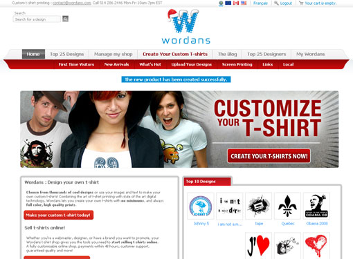 front page of Wordans
