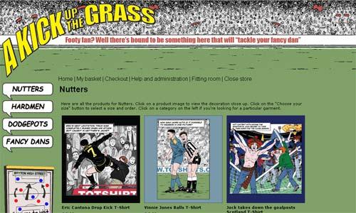 Football Cartoon T-Shirts from A Kick Up the Grass