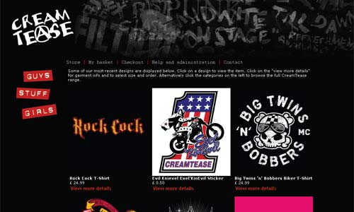 Rock / Biker Gear from Cream Tease
