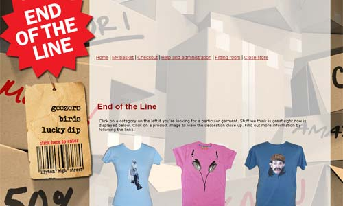 Bargain Bin T-Shirts from End of the Line