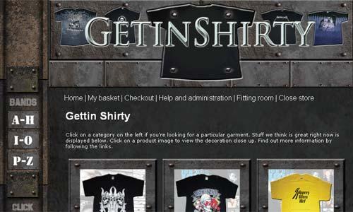 Classic hard rock t-shirts from Getin Shirty