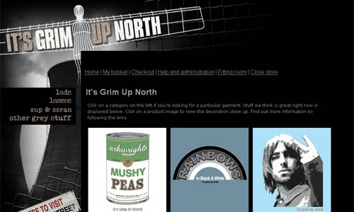 Northern England inspired t-shirts from It's Grim Up North
