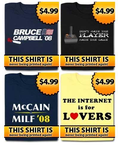 $4.99 T-Shirts at Nerdy Shirts