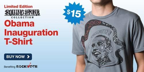 Rolling Stone Obama Inauguration T-Shirt at Cafepress