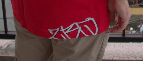 ZBQ logo on t-shirt is very stylish