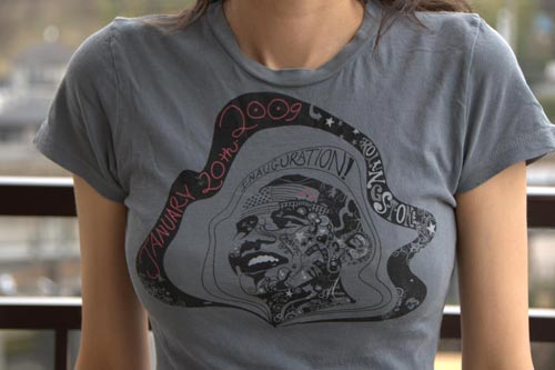 Limited Edition Rolling Stone Obama Inauguration T-Shirt at Cafepress