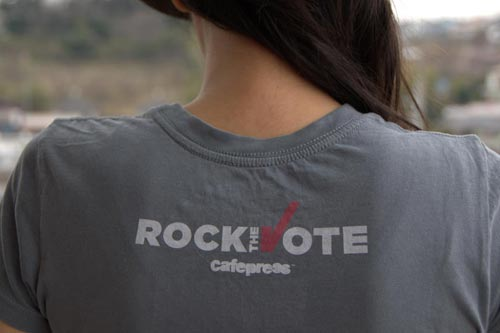 Rock the Vote and Cafepress logos