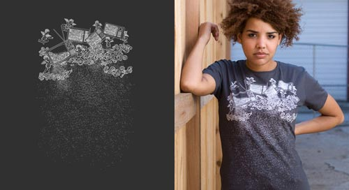 Snow T-Shirt by Justin Chee at Threadless