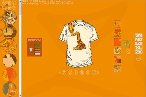 ZBQ displays t-shirts the ZBQ way