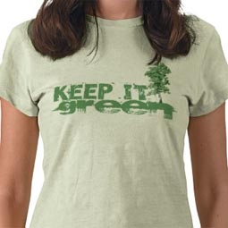 Keep it Green T-Shirt from Rude Retro