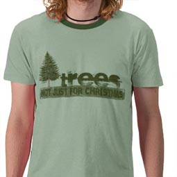 Trees: Not just for Christmas T-Shirt from Rude Retro