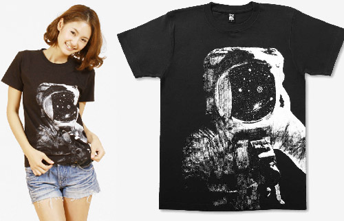 Astronaut T-Shirt at Design TShirt Store Graniph