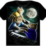 Three Keyboard Cats T-Shirt at Threadless