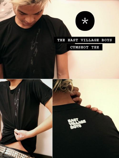 East Village Boys cumshot tee