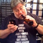 Gray Powell iPhone t-shirt modeled by Woz