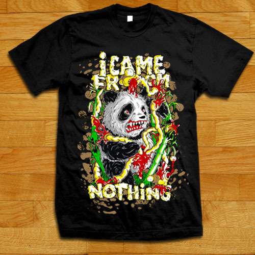 Panda T-Shirt from I came from nothing