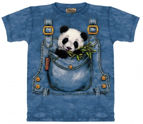 Panda Bear Pocket Youth T-Shirt