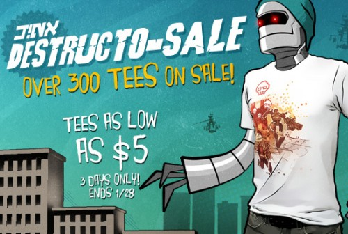 $5 T-Shirts in the J!NX sale