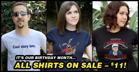 T-Shirt Laundry Sale