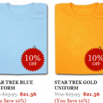 10% Off New Star Trek Tees at Nerdy Shirts