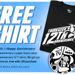 ThinkGeek celebrates 12th Birthday with a free t-shirt