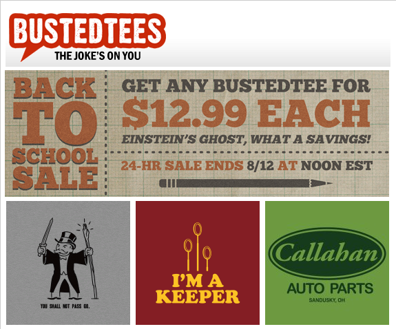 All tees just $12.95 at Busted Tees (24 hours only) : Tee Reviewer