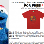 Merry Christmas Sesame Street T-Shirt