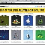 Glennz Tees End of Year Sale 2001 - $15 T-Shirts