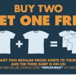 Buy 2 get 1 Free at Busted Tees