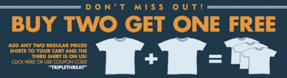 Busted Tees Buy 2, Get 1 Free Sale!