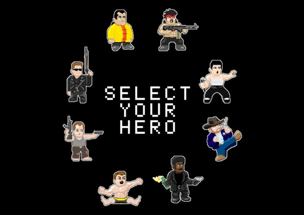 Select Your Action Movies Hero T-Shirt
