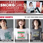 Free Calendar at Snorg Tees