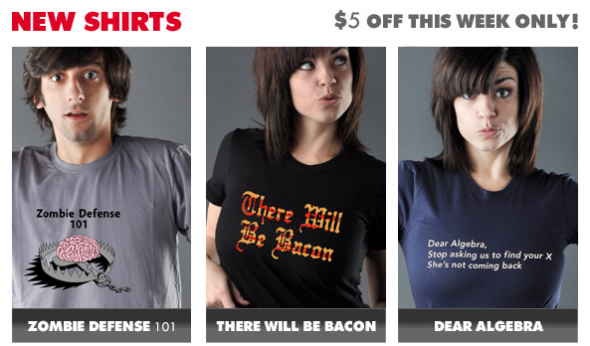 3 New Tees from Snorg Tees