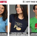 Math T-Shirts and Coffee T-Shirts at Snorg Tees this week