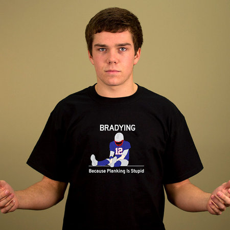 BRADYING, BECAUSE PLANKING IS STUPID T-SHIRT