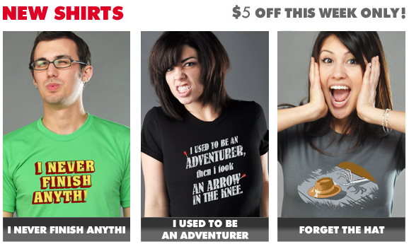 $5 off new Snorg Tees