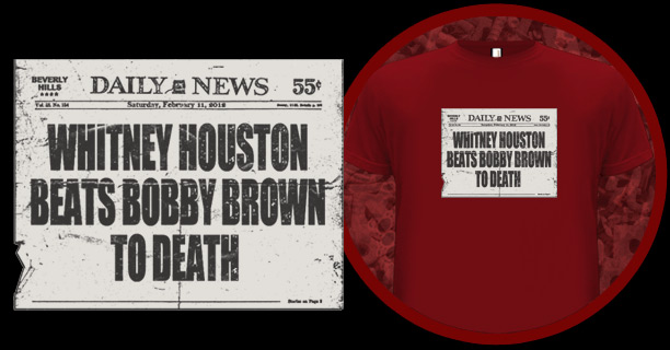Whitney Houston beats Bobby Brown to death