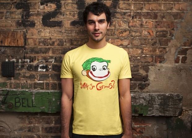 Why So Curious? Joker Curious George Mashup T-Shirt