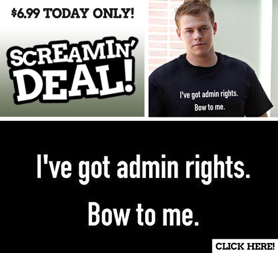 I've got admin rights bow to me t-shirt