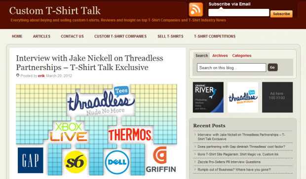 Jake Nickell interview on Custom T-Shirt Talk