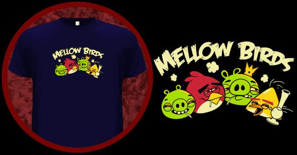 Mellow Birds - An Angry Birds T-Shirt