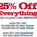 25 Percent off everything at Anonymous LA