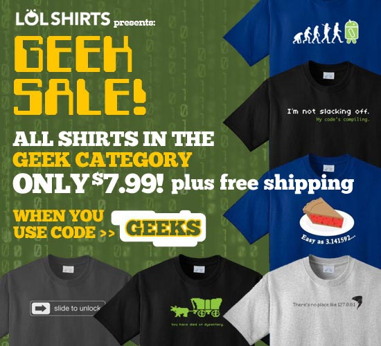 Get Special Offers and Discounts with LOLShirts.com Email SignUp
