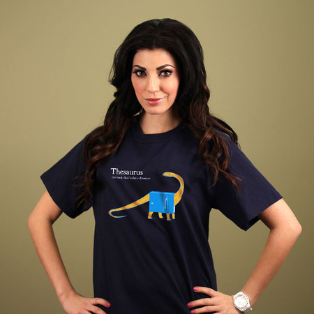 THESAURUS: THE BOOK THAT'S ALSO A DINOSAUR T-SHIRT